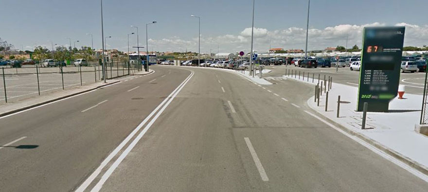 P3 parking area Faro Airport