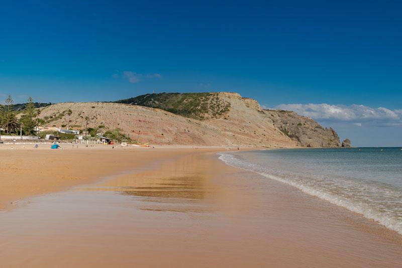 Praia de Luz beach in Portugal