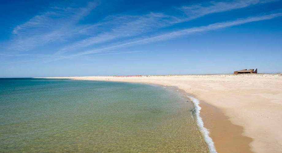Faro Portugal Ilha Deserta Beach Image
