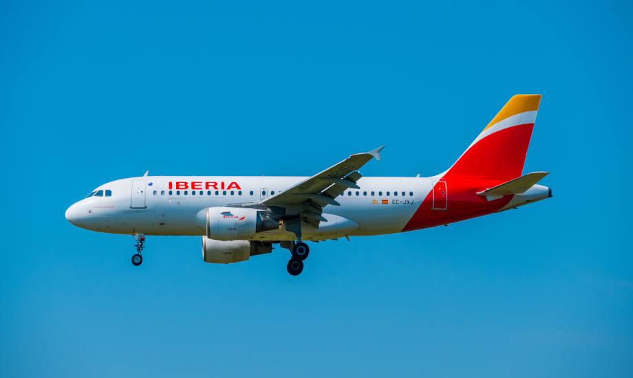 Iberia plane in flight