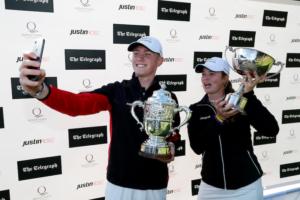 Champions Ben Schmidt and Mimi Rhodes