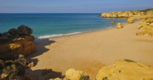 Beach scene in the Algarve