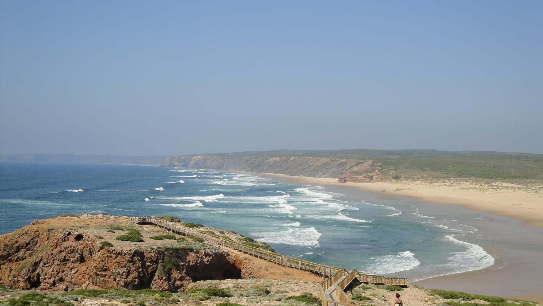 Praia da Bordeira beach in the Algarve