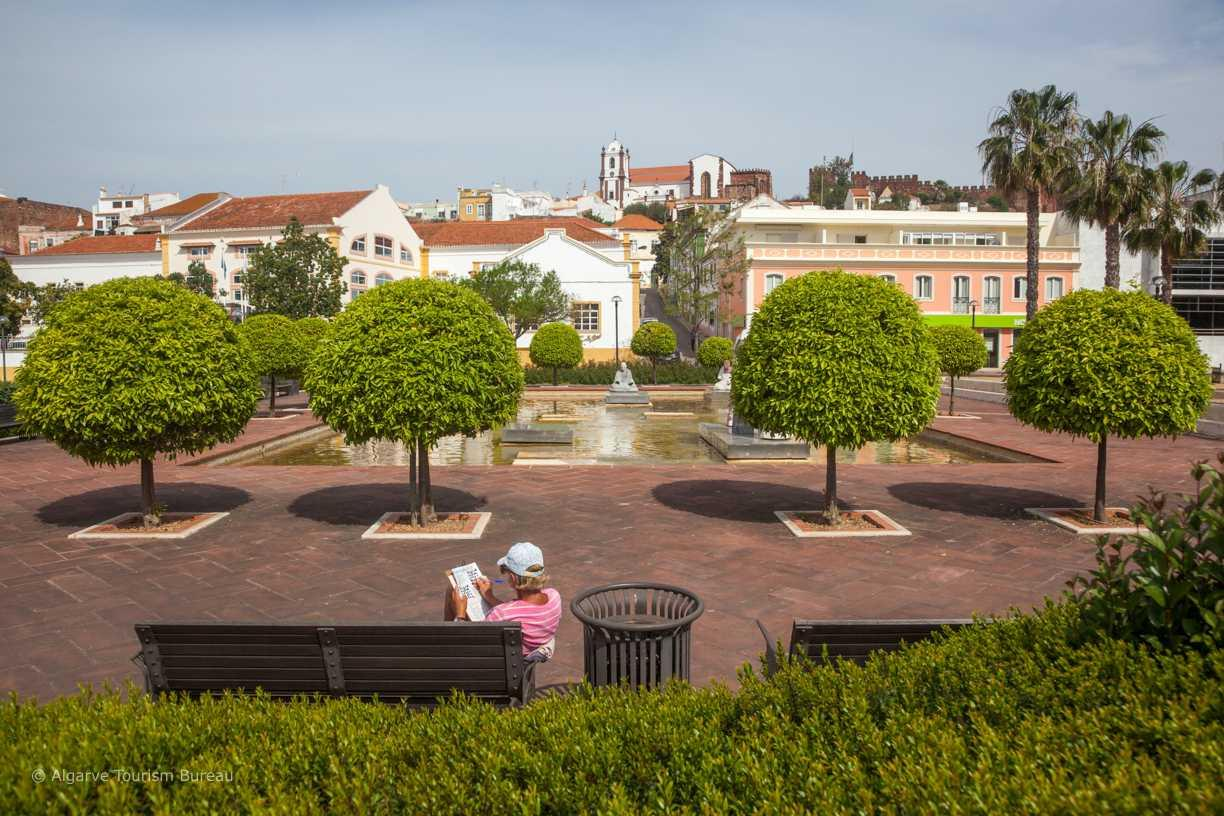 Relaxing in a Silves park