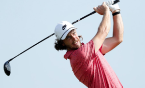 Tommy Fleetwood teeing off