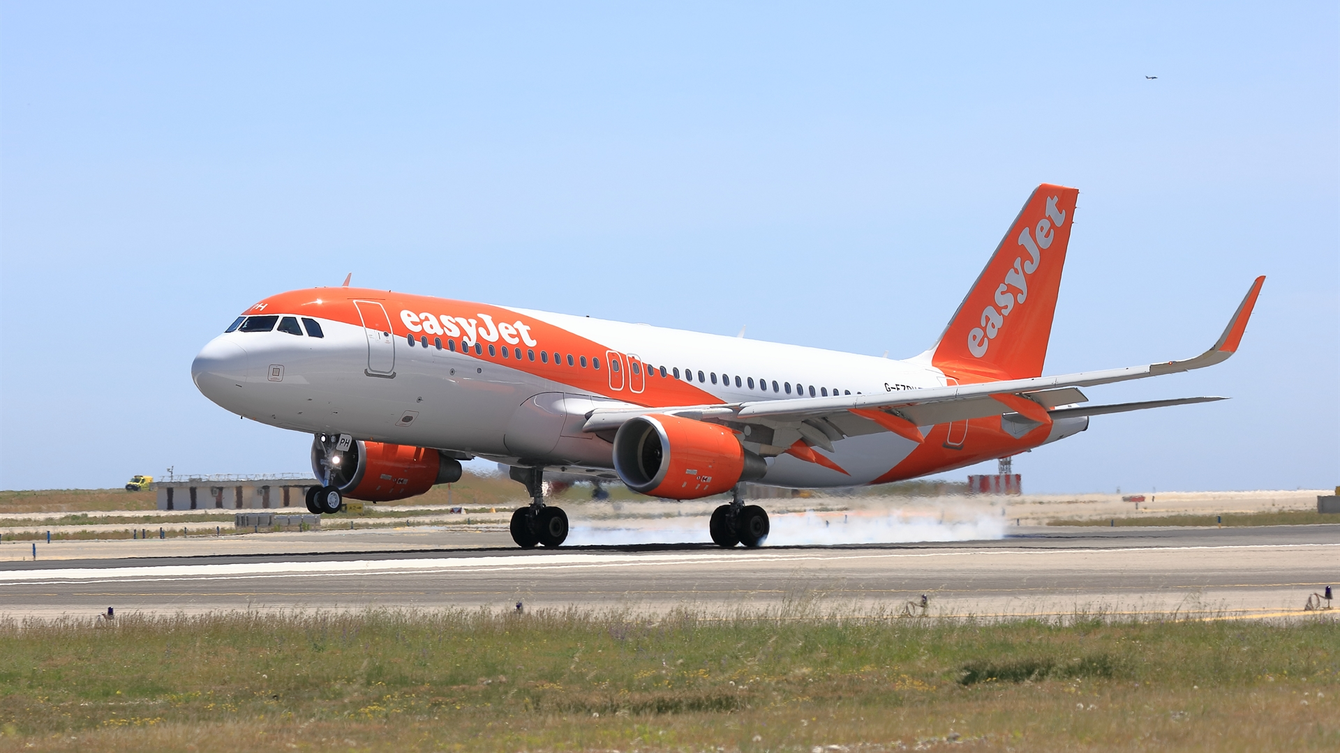 EasyJet A320 on runway