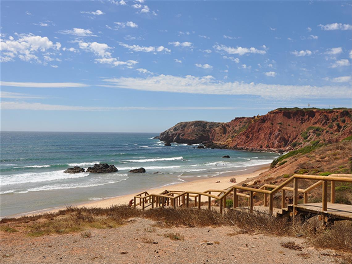 Beach scene in the Algarve