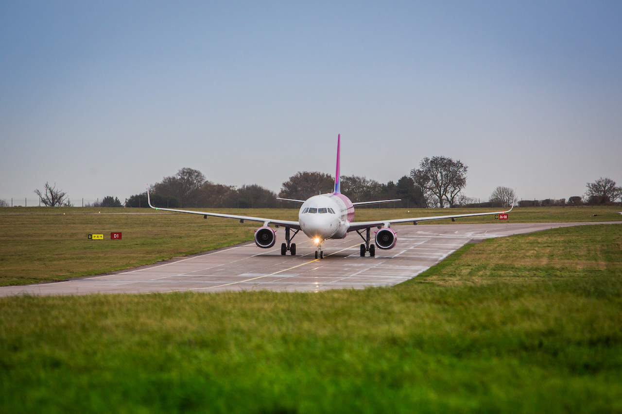 Wizz Air aicraft taxying