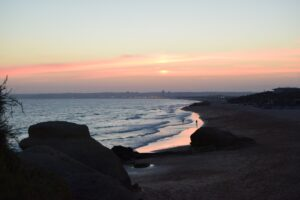 Sunset on the Algarve beach