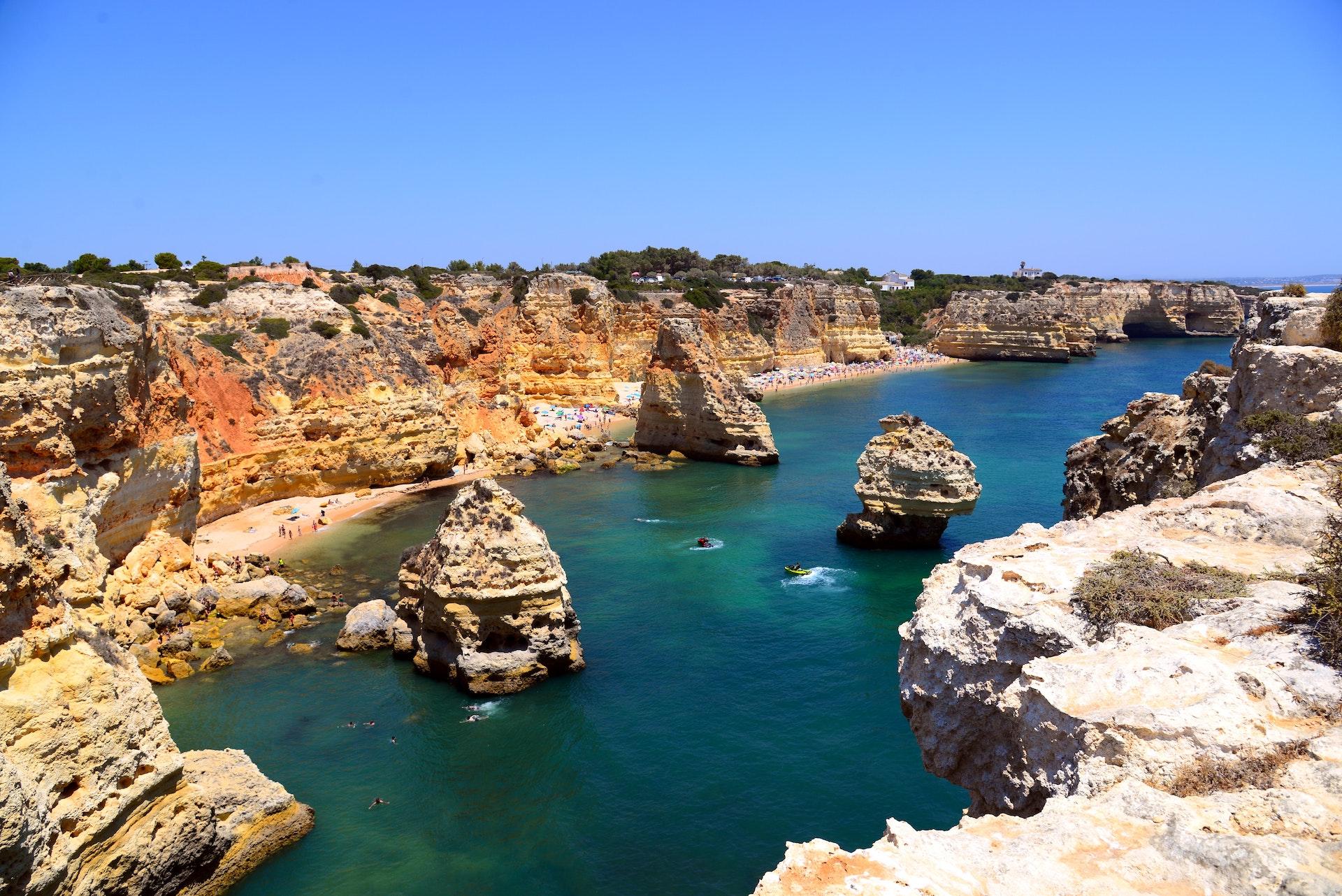 Algarve beach setting