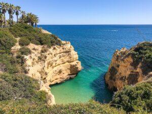 Beach cove in the Algarve