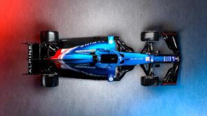 Alpine F1 racecar